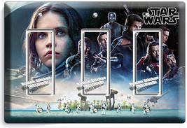 STAR WARS ROGUE ONE STORY JEDI JYN ERSO TRIPLE GFI LIGHT SWITCH WALL PLA... - $19.99