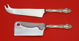 Violet By Wallace Sterling Silver Cheese Server Serving Set 2PC Hhws Custom Made - $109.00