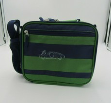 Pottery Barn Lunch Box Cold Pack Blue Green Striped - $25.00