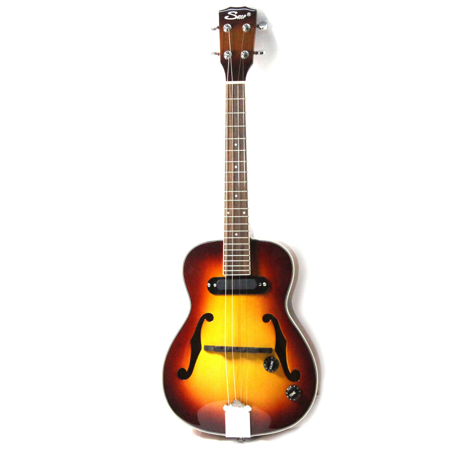 Primary image for Jazz Ukulele F hole Mini Acoustic 4 Strings Ukelele With Pickup