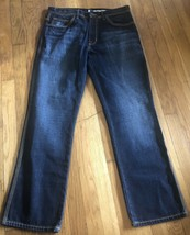 DKNY Bleecker Straight Embelished Pockets & Stitching Mens Jeans Size 33... - $20.30