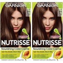 Garnier Nutrisse Nourishing Permanent Hair Color Cream, 513 Medium Nude Brown 2