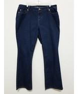 Apt 9 Womens Jeans Size 18 Navy Blue Stretch Denim Pants Bootcut Cotton ... - $35.64