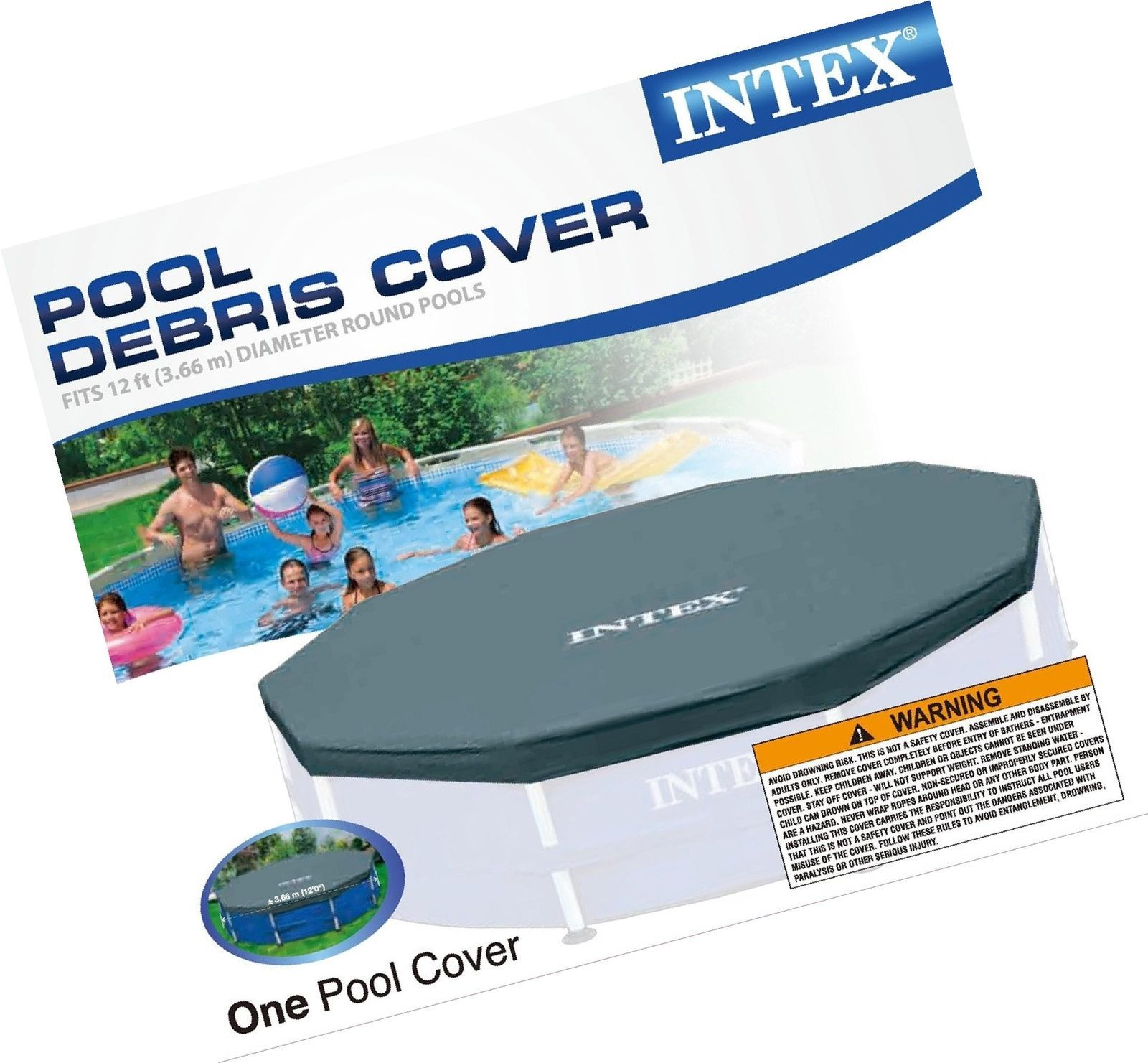 Intex 12ft. Metal Frame Pool Cover [New] Above Ground 12 Foot