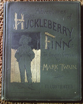 Mark Twain ADVENTURES OF HUCKLEBERRY FINN salesman's sample 1885. Rare. - $5,390.00