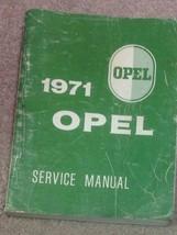 1971 OPEL GT & KADETT Service Shop Repair Workshop Manual BOOK Factory O... - $79.13