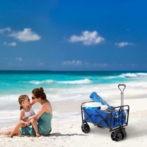 Outdoor Folding Wagon with Telescoping Handle Collapsible 176 Lbs Capaci... - $121.87