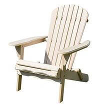 Merry Garden Foldable Wooden Adirondack Chair, Outdoor, Garden, Lawn, De... - $59.46