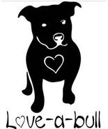 DOG - PITBULL Love A Bull Truck Laptop Car Decal Print Vinyl Window Deca... - $4.90