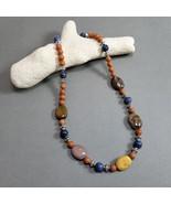 Jasper Necklace,  Mookaite jasper, Red river jasper, Sodalite, Tibetan s... - $29.00