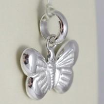 White Gold Pendant 750 18k, Butterfly Hexagonal socket button and Satin, Leng... image 2