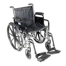 Drive Medical Silver Sport 2 With Desk Arms and Footrests 20'' - $194.30