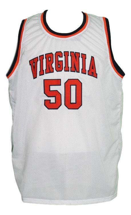 Ralph sampson  50 custom college virginia basketball jersey white   1
