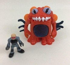 Man-Eating Alien Invasion Red Space Toy & Human Fisher Price Imaginext 2008 - $19.75