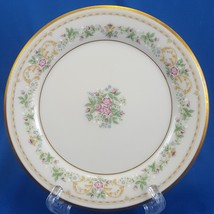 """Gorham Royalston Bread and Butter Plate Cream Porcelain Roses Gold Trim 6.5"""" - $10.83"""
