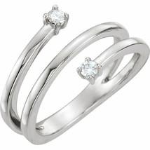 Forever One™ Charles & Colvard Moissanite Two-Stone Bypass Ring In 14K Gold - €592,70 EUR