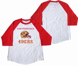 San Francisco 49ers Baseball Tees Red / White Shirt (S / M / L / XL) 2XL... - $24.74+