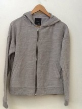 Forever 21 LONG-SLEEVE Full Zip Gray Hoodie Hooded Sweater Nwt New Sz S - $18.95