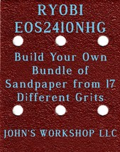 Build Your Own Bundle of RYOBI EOS2410NHG 1/4 Sheet No-Slip Sandpaper - 17 Grits - $0.99