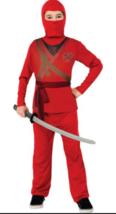 Brotherhood of the Dragon Ninja Child Costume Red Medium Dress Up Large  - $6.92