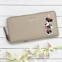 NEW Kate Spade New York Disney Minnie Mouse Leather Lacey Wallet #wlru6028 - $189.00