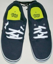 Faded Glory Navy Blue Canvas Padded Tongue & Collar Casual Shoe Boy Size 2 New - $7.45