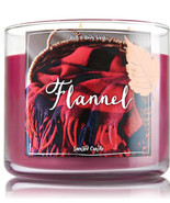 Bath & Body Works Flannel Three Wick 14.5 Ounces Scented Candle - $23.95