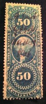 US Bob R54c  50c Conveyance, blue, perforated used Fine - $1.99