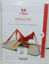 Lovepop LP1240 Dragon Pop Up Card  White Envelope Cellophane Wrap image 6