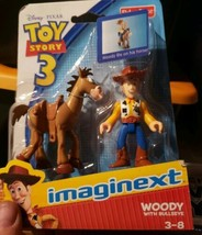 IMAGINEXT TOY STORY 3 WOODY WITH BULLSEYE 3-8 YEARS BRAND NEW - $19.99
