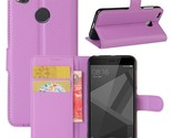 Litchi Skin Leather Stand Cover with Card Slots for Xiaomi Redmi 4X - Purple
