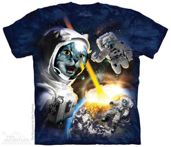 THE MOUNTAIN CATACLYSM CAT KITTENS IN SPACE ASTRONAUT PLANET DOOM T SHIR... - $19.50+