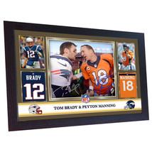 Tom Brady Peyton Manning England Patriots Broncos NFL signed autograph F... - $19.27