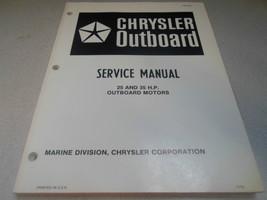 1983 Chrysler Outboard Service Manual 25 35 HP OB 3870 OUTBOARD MOTORS O... - $18.14