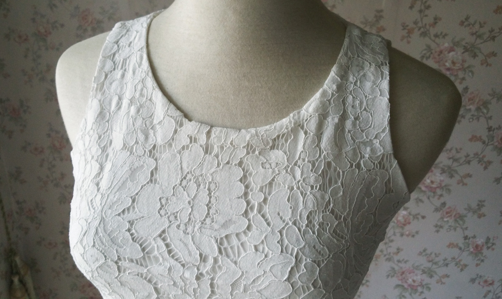 White Sleeveless Lace Tank Tops Bridesmaids Lace Top Crop Top Plus Size Lace Top image 8