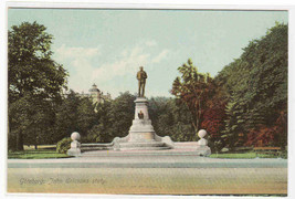 John Ericsons Staty Statue Goteborg Sweden 1910c postcard - $5.94
