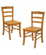 Benjamin Wooden Ladder Back Chair Light Oak 2-PC Set  - $126.72