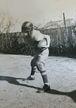 VINTAGE ORIGINAL PHOTO Young Football Player 1940s - $7.92