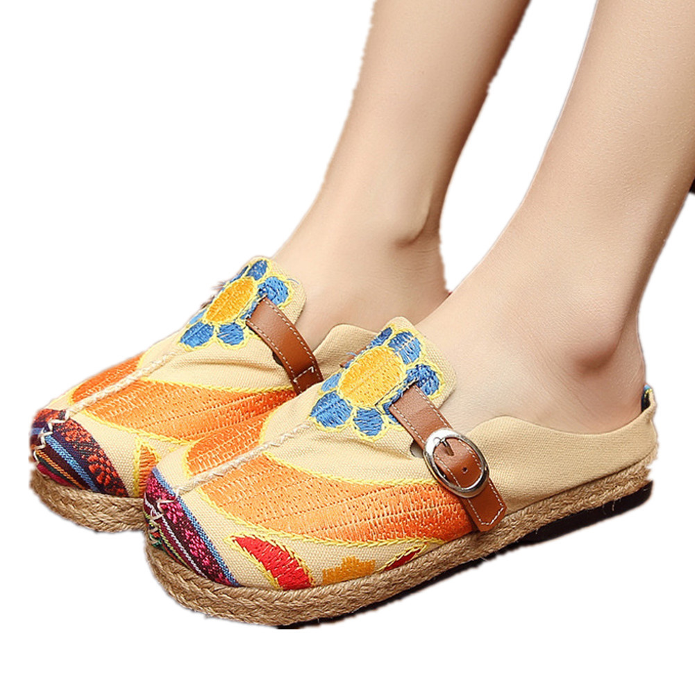 Primary image for Chinese Cotton and linen national wind Embroidy Shoes embroidered Slippers