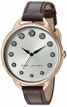 Marc Jacobs Women's Betty Oxblood Leather Strap Watch – Gold - $119.90