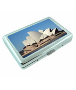 Famous Landmarks D3 Silver Metal Cigarette Case Wallet Sydney Opera House - $13.95