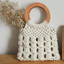 Woven Fashion hobo Women hand Bag Rope Woven Bag - $32.40