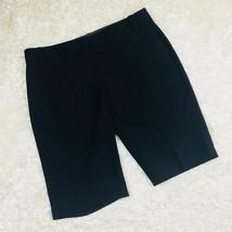 BCBG Max Azria Size 4 Shorts Black Wool Blend Bermuda Casual Everyday - $13.99