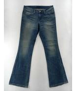 Women's Levi Jeans Denim Boot Cut Flare Mid Rise Size 7M 28x32 w/ template - $20.85
