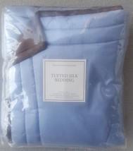 "NIP Restoration Hardware ""Marine"" Blue Tufted Silk Euro Sham - $24.70"