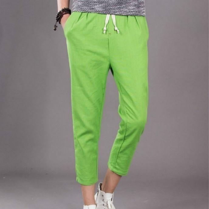 The new summer mens pants men loose linen pants casual pants image 2