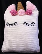 Unicorn Pillow, Hand Crocheted - $21.00