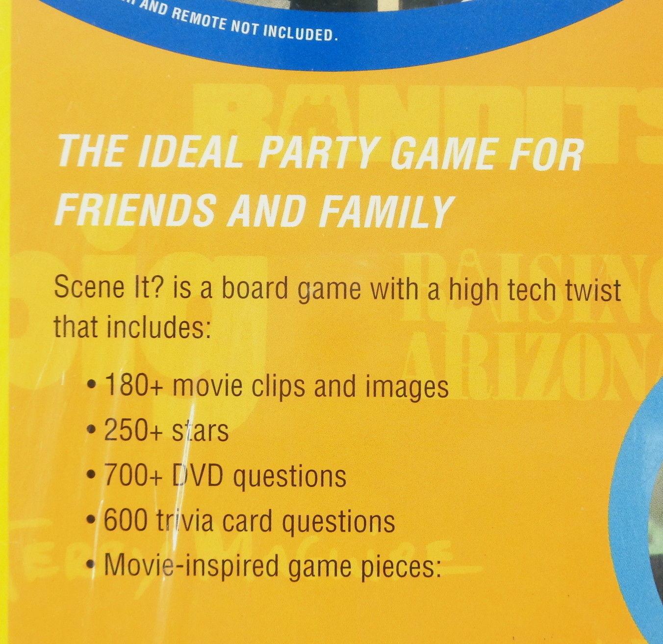 Scene It? Movie Edition DVD Trivia Board Game 2004 Screen Life 12+ New Sealed