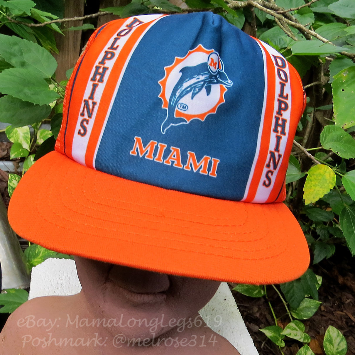 57. 57. Previous. Vintage NFL Distressed 1970s Miami Dolphins Mesh Snapback  Trucker Hat New Era b39917175e55