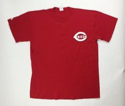 Majestic MLB Cincinnati Reds Evolution Tee Cool Base SS Henley Men's Sma... - $29.70